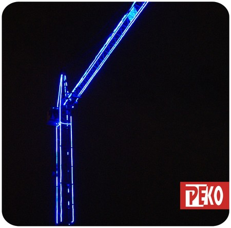 Декоративная подсветка башенных кранов