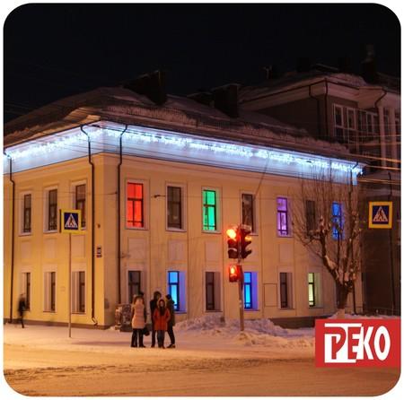 Новогоднее оформление фасадов