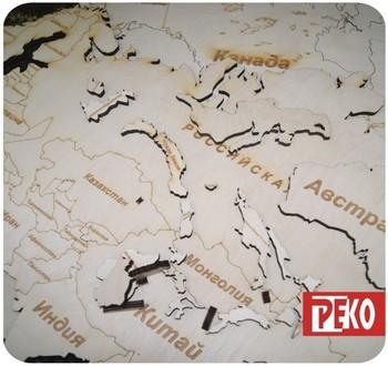 Карта мира из дерева купить