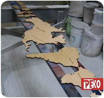 Карта мира из дерева на стену купить