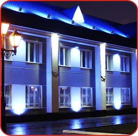 Декоративная подсветка офисных зданий